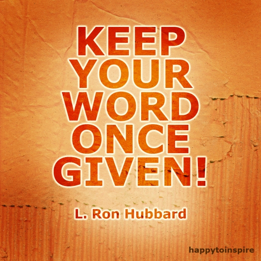 keep your word once given copy