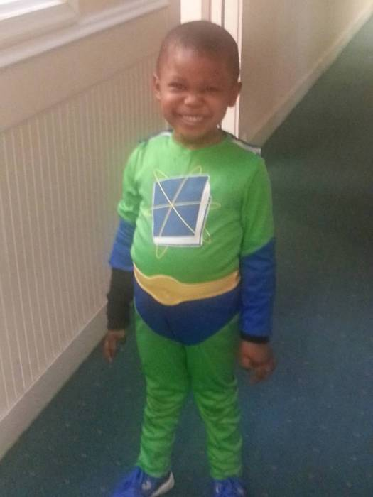 He had two costumes this year. He was Super Why? Age 4