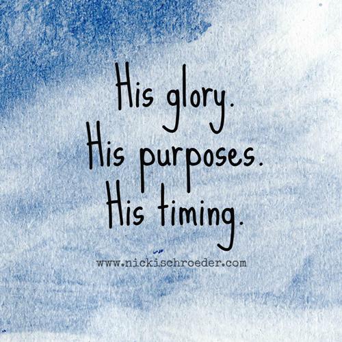 his timing
