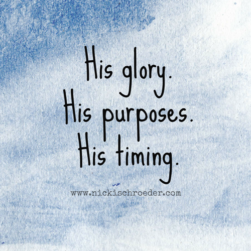 his timing