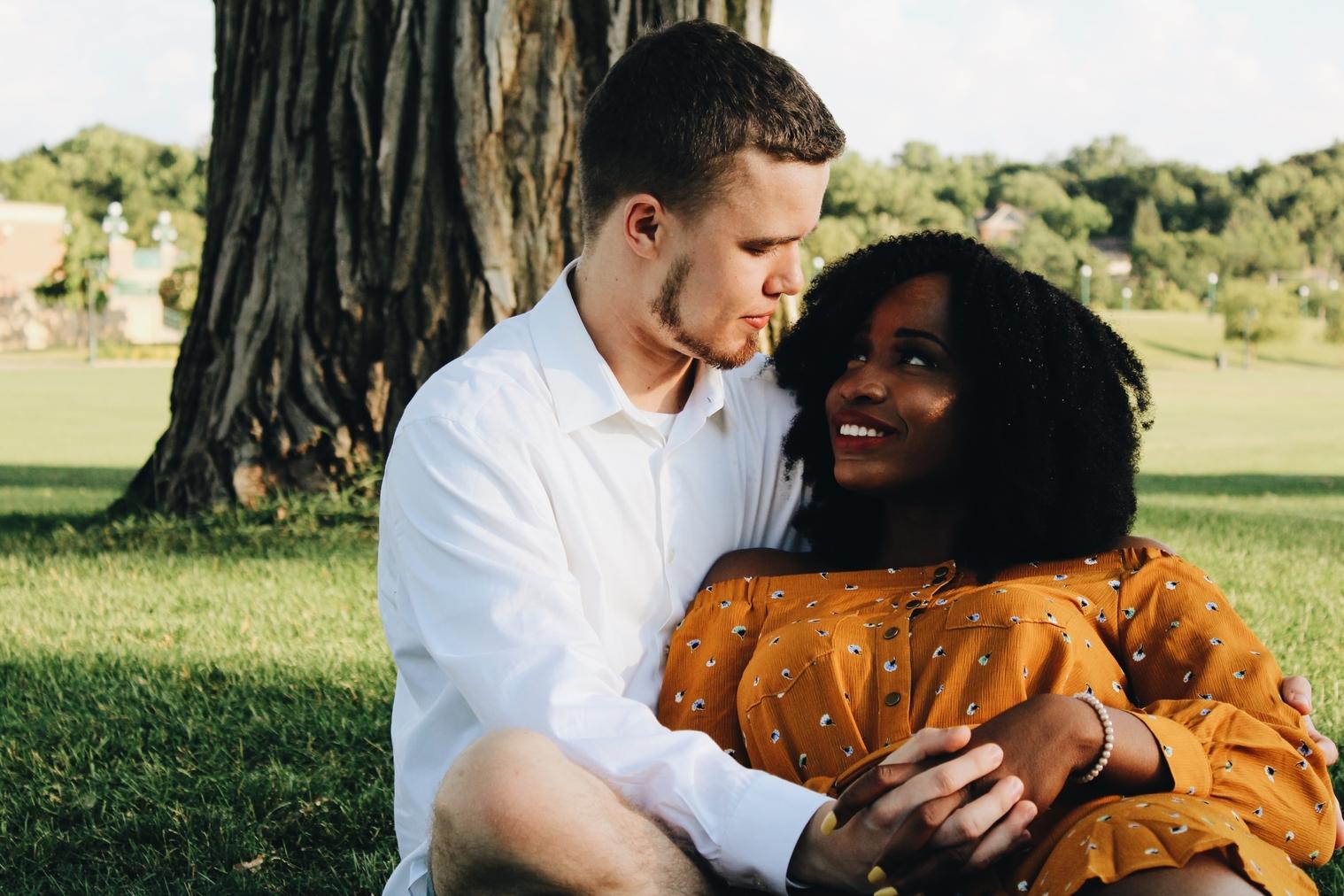 Black interracial relationship white