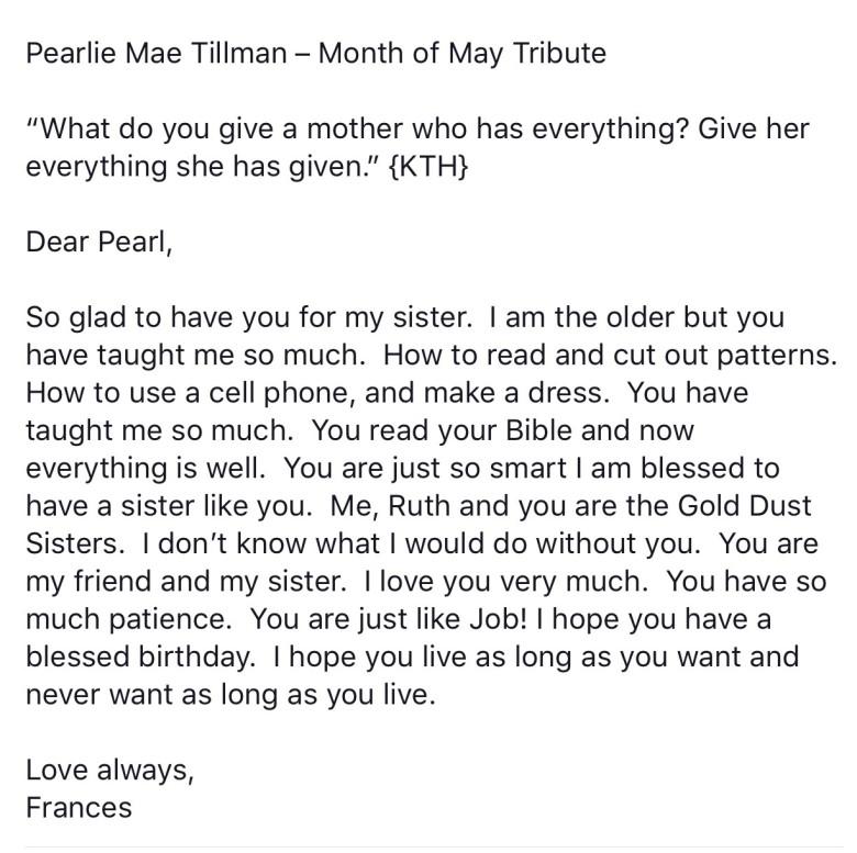 moms letter