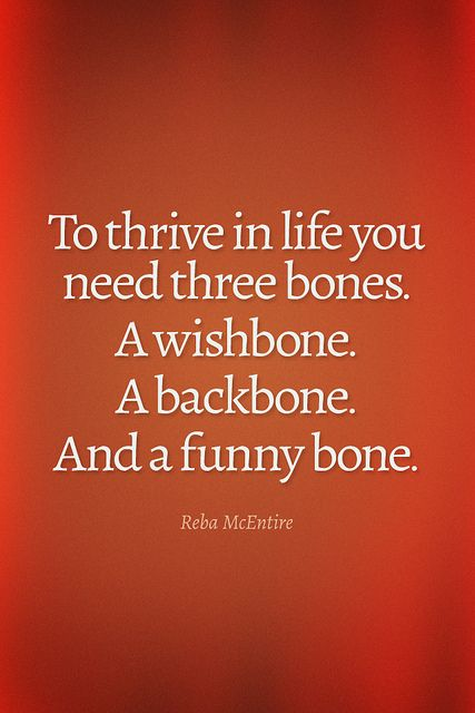 To-thrive-in-life-you-need-three-bones-a-wishbone-a-backbone-and-a-funny-bone.